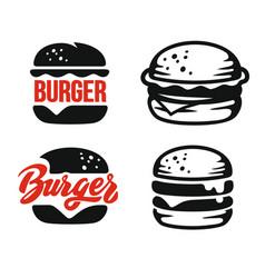 Burger logo emblem vector