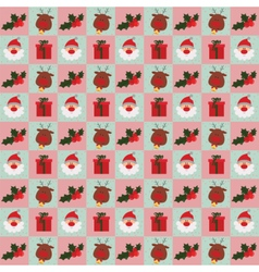 Christmas Santa and gifts pattern vector image