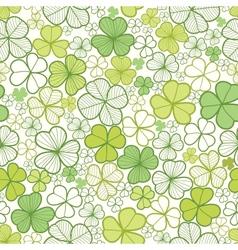 Clover line art seamless pattern background vector