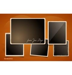 collection grunge foto frames vector image
