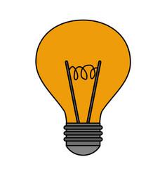 colorful realistic image modern light bulb on vector image