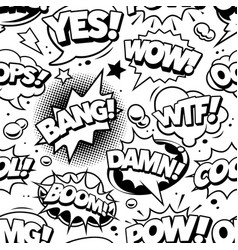comic pop art seamless pattern vector image