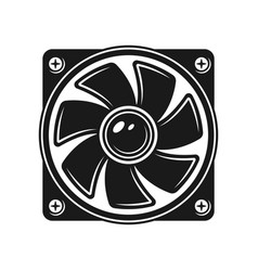 Computer cooling fan object or element vector