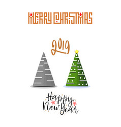 concept christmas trees modern flat style vector image