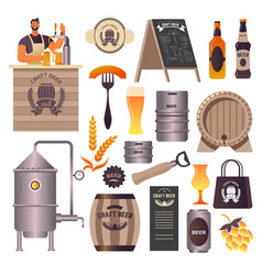 craft beer pub brewery and bar bartender pouring vector image
