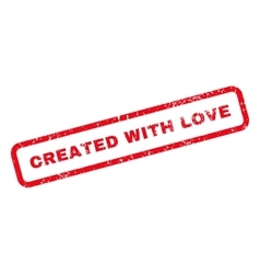 Created With Love Text Rubber Stamp vector