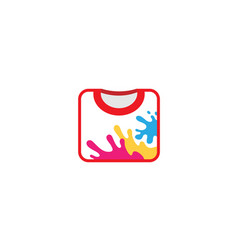 creative colorful unique tshirt design logo vector image
