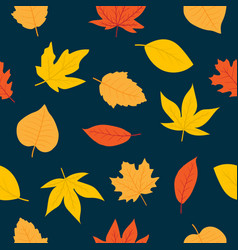 cute autumn seamless pattern vector image
