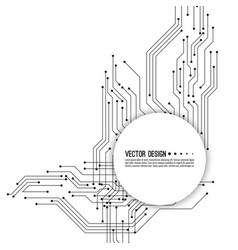 Electronic motherboard vector