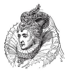 Elizabeth i of england vintage vector