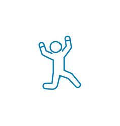 Experiencing joy linear icon concept experiencing vector