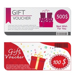 Gift Voucher Template Designs vector image