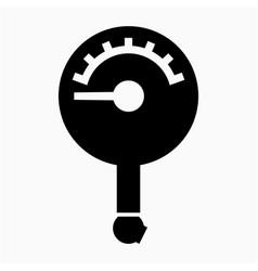 Glyph beautiful pressure gauge icon vector
