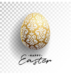 happy easter holiday with vector image