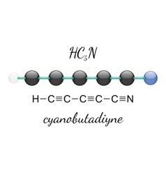 HC5N cyanobutadiyne molecule vector