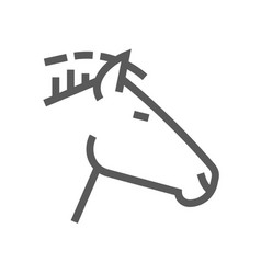 horse head farm animal line icon 48x48 vector image