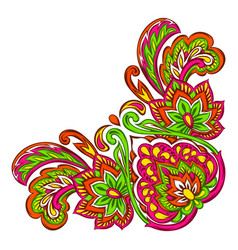 Indian ethnic decorative element vector