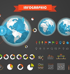Infographic elements template statistic charts vector