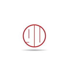 initial letter gu logo template design vector image