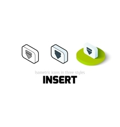 Insert icon in different style vector image