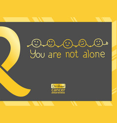 international childhood cancer day vector image