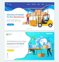 international delivery business with china vector image