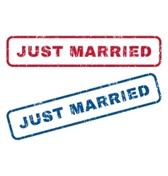 Just Married Rubber Stamps vector