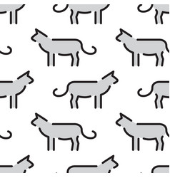 kids seamless pattern cat vector image