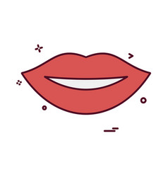lips icon design vector image