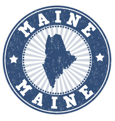 Maine stamp vector