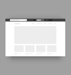 Minimalistic concept web browser wireframes vector