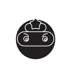 ninja emoji black concept icon ninja emoji vector image