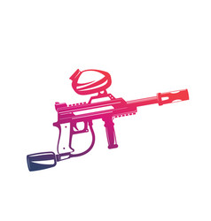 paintball gun isolated on white vector image