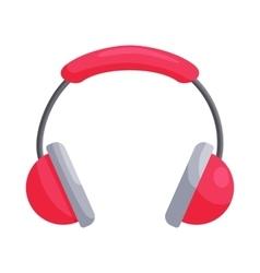 Pink headphones icon cartoon style vector