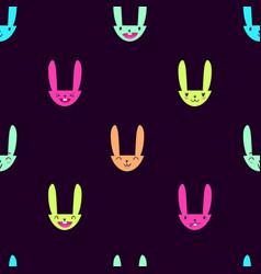 Rabbit emoticons pattern-14 vector