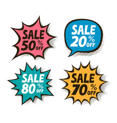 sale label set business shopping mall symbol vector image