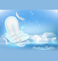 sanitary napkins advertising poster design vector image