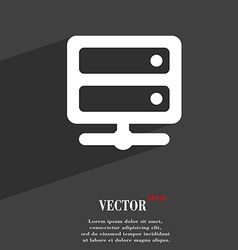 Server icon symbol Flat modern web design with vector image