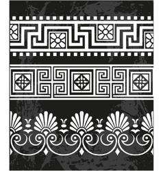 Set antique greek ornaments vector image