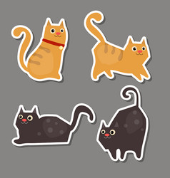Set of cute cat stickers set of cute cat stickers vector