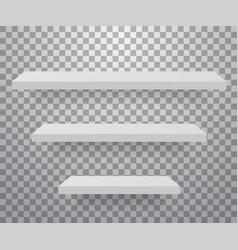 set white different furniture shelves vector image