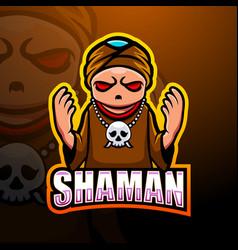 Shaman mascot esport logo design vector