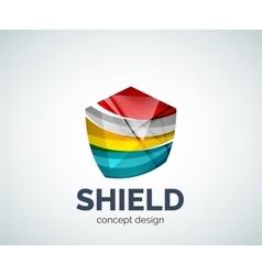 Shield logo business branding icon vector image