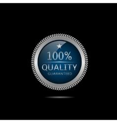Silver Quality guaranteed label vector