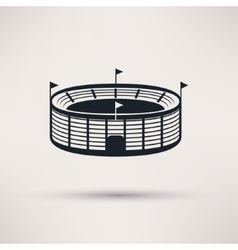 sports stadium icons in a flat style vector image