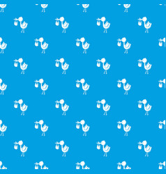 stork child pattern seamless blue vector image