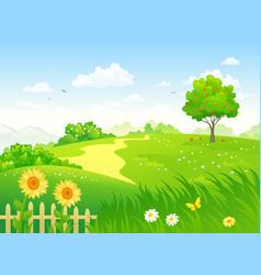 Summer country garden vector