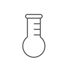 test tube related thin line icon vector image