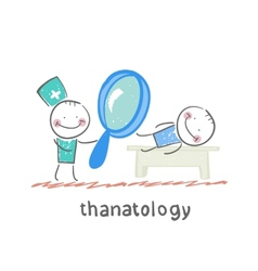 Thanatology studies the dead man vector