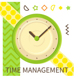 time management banner alarm clock fast speed vector image